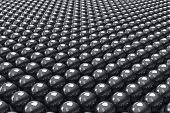 Black Balls Background