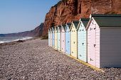 English Beach huts Devon England