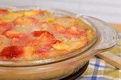 Peach Cobbler Dessert Dish