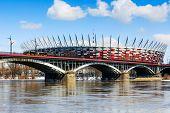 Poniatowski Bridge And National Stadium