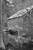 Historic covered bridge and grist mill