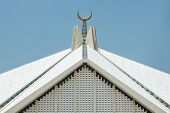 Crescent At Faisal Mosque, Islamabad, Pakistan