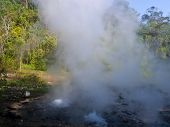 Geyser Hot Spring In Huai Nam Dang National Park In Chiang Mai, Thailand