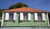 Old traditional house in Gustavia at St Barths, French West Indies