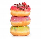 Donuts Isolated On A White Background