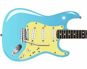 stock photo of stratocaster  - A traditional solid body electric guitar from the 1950 - JPG