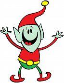 Welcoming Christmas elf