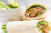 Falafel Pita Bread Wrap Sandwich