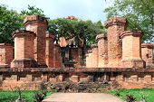 Columns By The Cham Civilization. Nha Trang, Vietnam