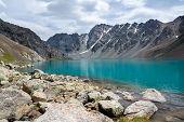 Majestic lake Ala-Kul, Tien Shan, Kyrgyzstan