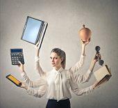Multitasking Woman
