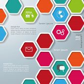 Several Colored Hexagons Infographic