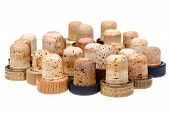 Used Corks From Alcoholic Spirits