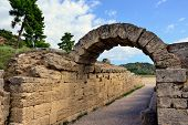 stock photo of olympic-games  - Ancient stadium  in Olympia - JPG