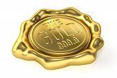 Realistic Gold Seal : Fine Gold 999.9