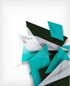 stock photo of letterhead  - Business geometric shape abstract background - JPG