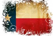 picture of texans  - Texan flag waving in the wind with some spots and stains - JPG