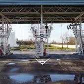 steel industrial design. ladder, awning, process equipment