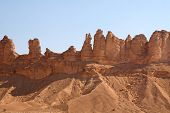 Clay rocks surrounding Riyadh city in Saudi Arabia
