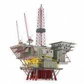 Large Oil Platform with area