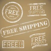 Free Shipping Stamp Set