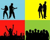 image of person silhouette  - people dancing - JPG