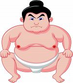 Sumo wrestler cartoon
