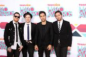 LOS ANGELES - NOV 17:  Fall Out Boy Group, Andy Hurley, Patrick Stump, Pete Wentz, Joe Trohman at th