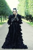 pic of evil queen  - Dark Queen in park - JPG
