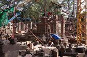 The Restoration Of Ta Prohm Temple. Angkor. Cambodia