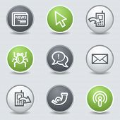 Internet web icons set 2, circle buttons