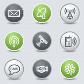 Communication  web icons, circle buttons