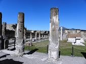 View from the main square of Pompeii.
