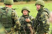 KOSTROMA REGION - AUGUST 26: Soldiers on the Command post exercises with 98-th Guards Airborne Divis