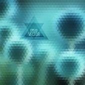 Retro pattern of geometric shapes.