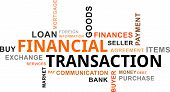 word cloud - financial transaction