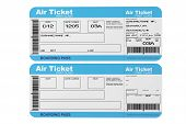 picture of boarding pass  - Airline boarding pass tickets on a white background - JPG