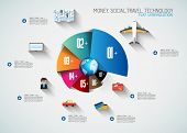 Timeline Infographic design template.  . Idea to display information, ranking and statistics with or