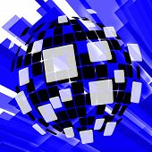 Modern Disco Ball Background Means Vintage Wallpaper Or Digital