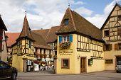 Nice Little Houses In Eguisheim Village In France