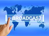 Broadcast Map Shows Internet Broadcasting And Transmission Of Ne