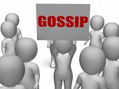 Gossip Board Character Means Secret Whispering And Rumouring