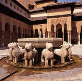 Lions fountain, Alhambra Palace, Seville.