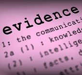 Evidence Definition Means Crime Scene Investigation And Police R
