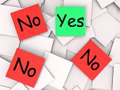 Yes No Post-it Notes Mean Positive Or Negative Response
