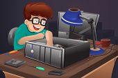 Geek Repairing A Computer