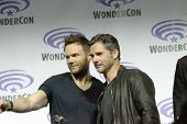APRIL 19-ANAHEIM, CA: Joel McHale and Eric Bana participate in a panel discussion for