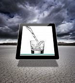 Virtual glass of water