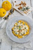 Italian home made pumpkin gnocchi