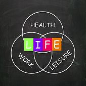 Balance Life With Health Leisure And Work